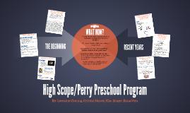 High Scope/Perry Preschool