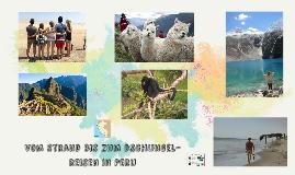 Vom strand bis zum dschungel- reisen in Peru