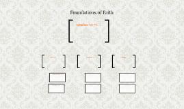 Foundations of Faith: Ephesians 1:3-14