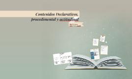 Copy of Contenidos Declarativos, procedimental y actitudinal