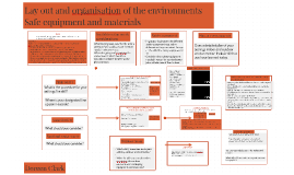 Lay out and organisation of the environments