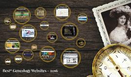 Copy of Genealogy Websites - 2016