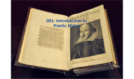 001: Introduction to Poetic Meter