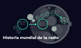Historia mundial de la radio