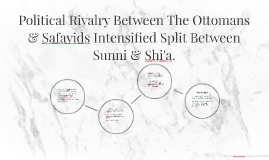 Political Rivalry Between The Ottomans & Safavids Intensifie
