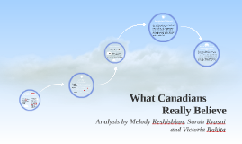 What Canadians Really Believe