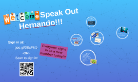 Welcome Speak Out Hernando!!!