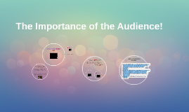 The Importance of the Audience!