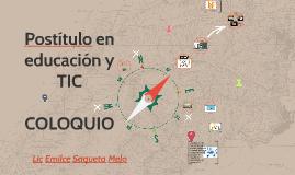 Coloquio Postítulo educación y TIC