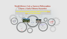 World History Unit 4: Eastern Philosophies