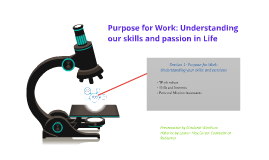 Purpose for Work: Understanding your skills and Passion in L