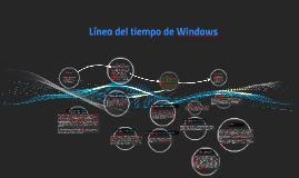 Línea del tiempo de Windows