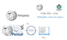 Usa Wikipedia sin copiar