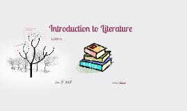 L3EN10 Introduction to Literature