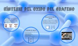 Síntesis del oxido del grafeno
