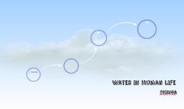 Water in human life