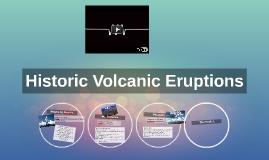 Historic Volcanic Eruptions