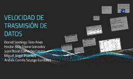 VELOCIDAD DE TRASMISION DE DATOS