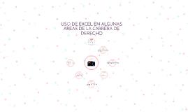 USO DE EXCEL EN ALGUNAS AREAS DE LA CARRERA DE DERECHO