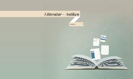 Litteratur - Antiken
