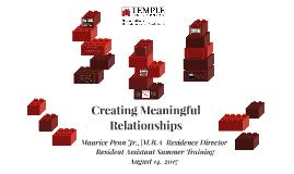 Creating Meaningful Relationships - TU