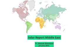 Solar Report Middle East