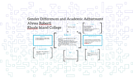 Gender Differences and Academic Adjustment