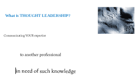 What is Thought Leadership?