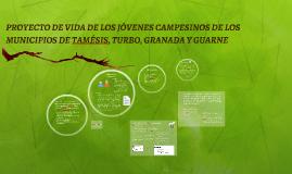 PROYECTO DE VIDA DE LOS JÓVENES CAMPESINOS DE LOS MUNICIPIOS