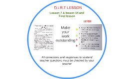D.I.R.T LESSON