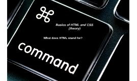 Basics of HTML and CSS (theory)