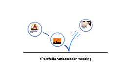ePortfolio Ambassadors