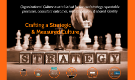 Crafting a Strategic & Measured Culture