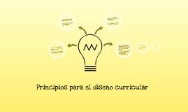 principios para el diseño curricular