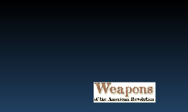Weapon advancement from American Rev. to Now
