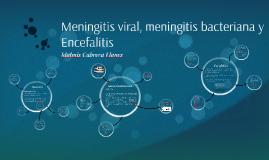 Meningitis viral, meningitis bacteriana y Encefalitis