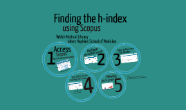 Finding the h-index Using Scopus
