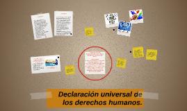 Declaración universal de los derechos humanos.