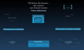 L'évolution des langues : des origines aux réseaux sociaux.