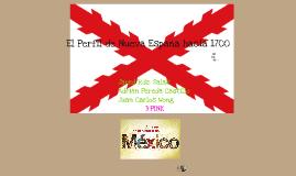 Nueva España en 1700