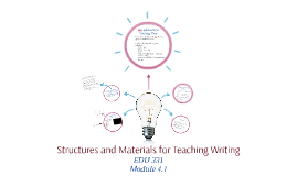 Structures and Materials for Teaching Writing