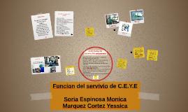 Copy of Funcion del servivio de C.E.Y.E