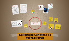 Estrategias Genericas de Michael Porter