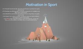 Motivation in Sport