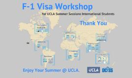 Summer Sessions: F-1 Visa Workshop