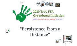 2016 Troy FFA Greenhand Initiation