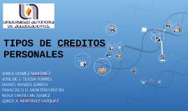 TIPOS DE CREDITO PERSONALES