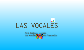 Copy of Las vocales