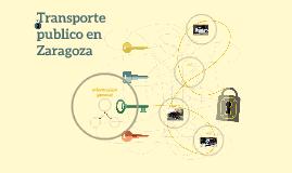 Transporte publico en Zaragoza