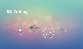 B1 Writing